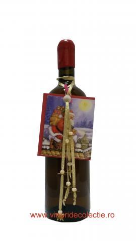 Decoratiune Craciun pentru sticla de vin 001