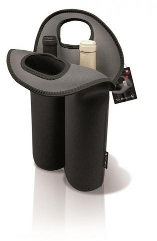 Punga pentru 2 sticle de vin din neopren FIE 022