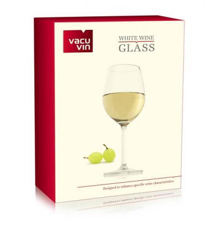Set 2 pahare vin alb VacuVin