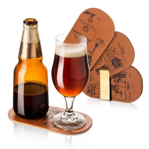 Set 6 suporturi pentru sticla si pahar bere VV 18555