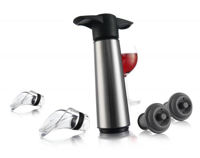 Set pompa vacuumat inox cu 2 dopuri si 2 antipicuratoare