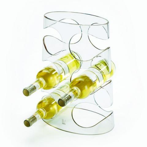Raft 6 sticle de vin - transparent