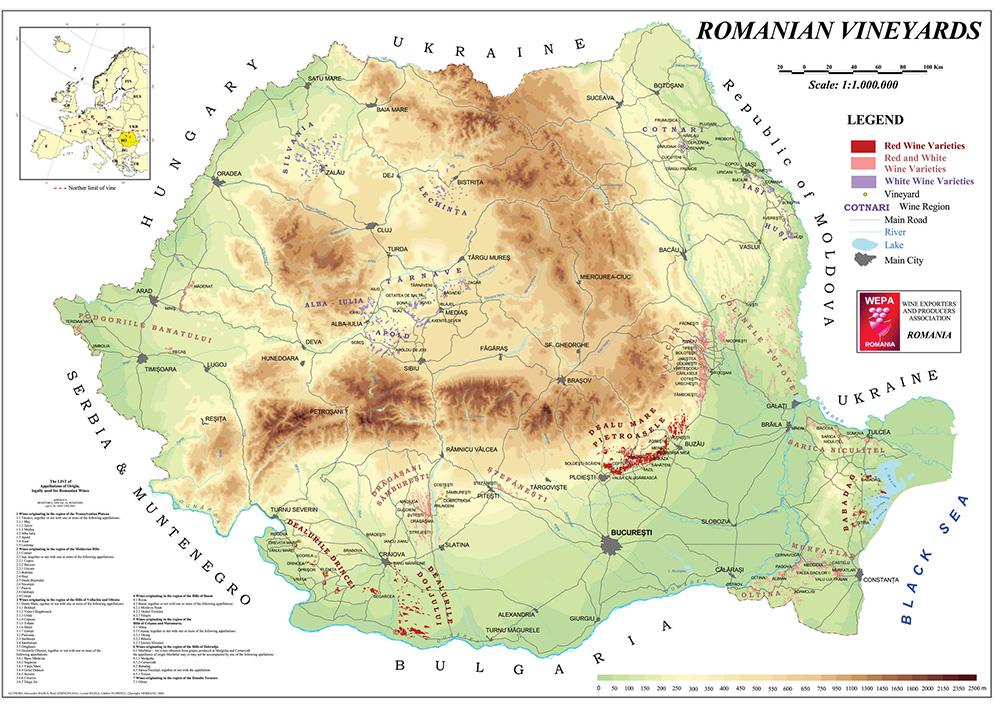 PODGORII IN ROMANIA